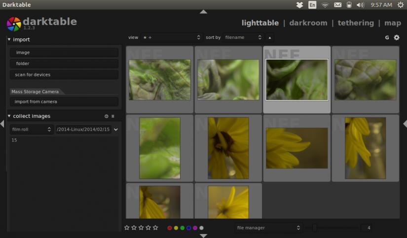 lighttable view sorted screen set