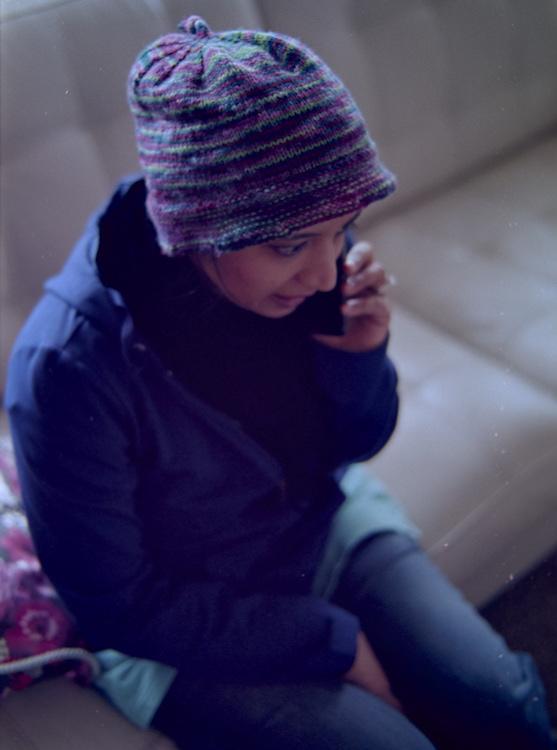 Hanabibti on the phone