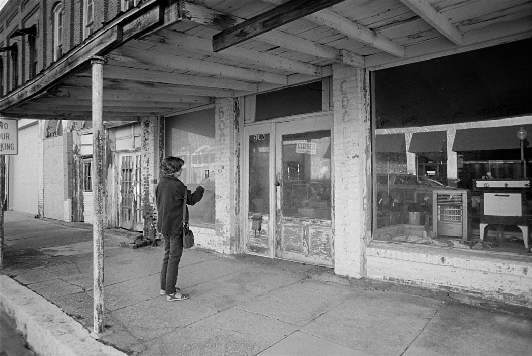 Mom and the old storefront