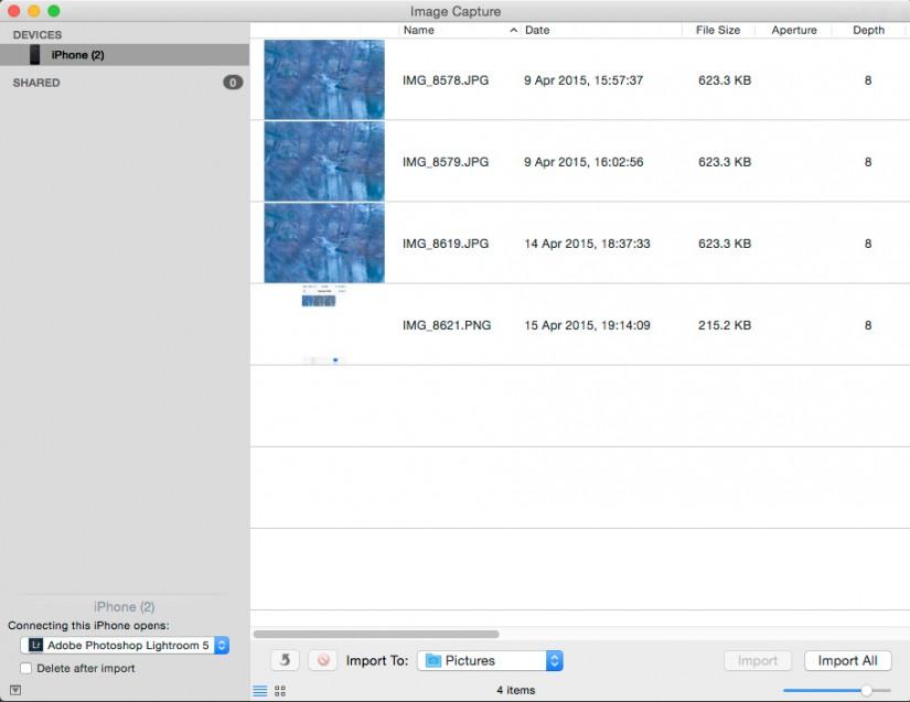 Image Capture Import Screen|©JamesECockroft-20150415